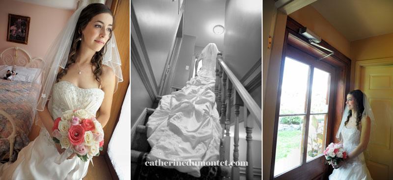 portraits de la mariée avant la cérémonie