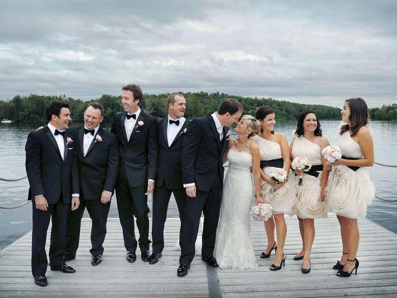 mariés et cortège à l'Estérel Resort