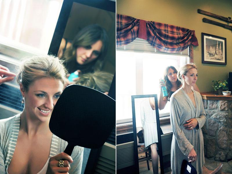 photos de la préparation de la mariée