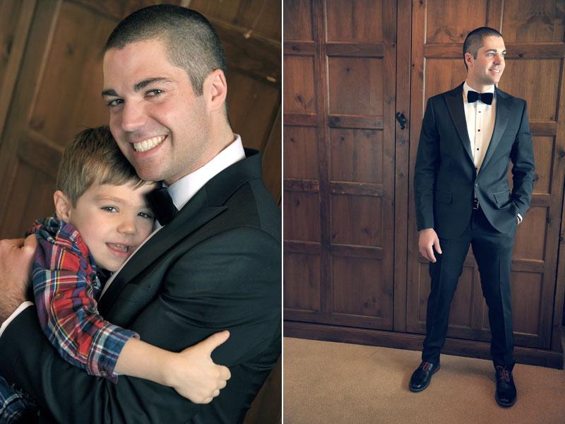 photo du marié avec son fils