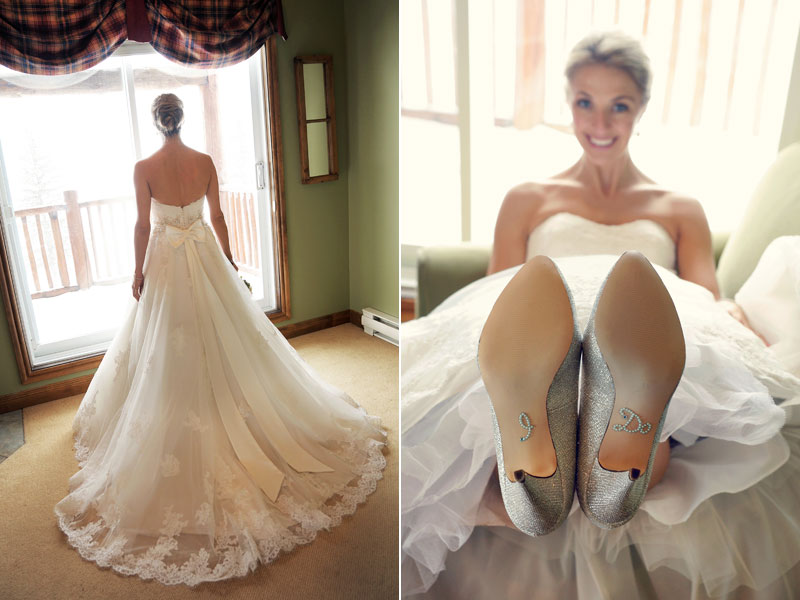 bride pictures with I do shoes