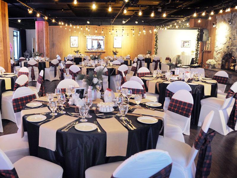 décorations mariage d'hiver au grand lodge Tremblant