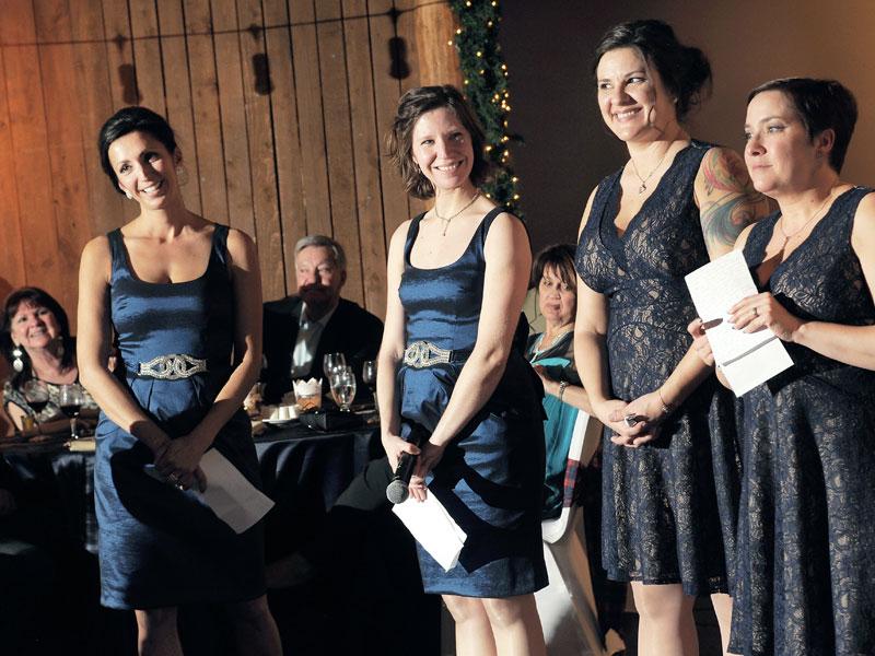 discours des demoiselles d'honneur en soirée