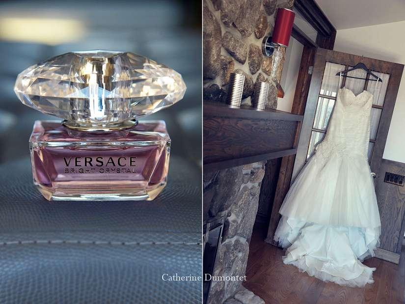 robe de mariage et parfum