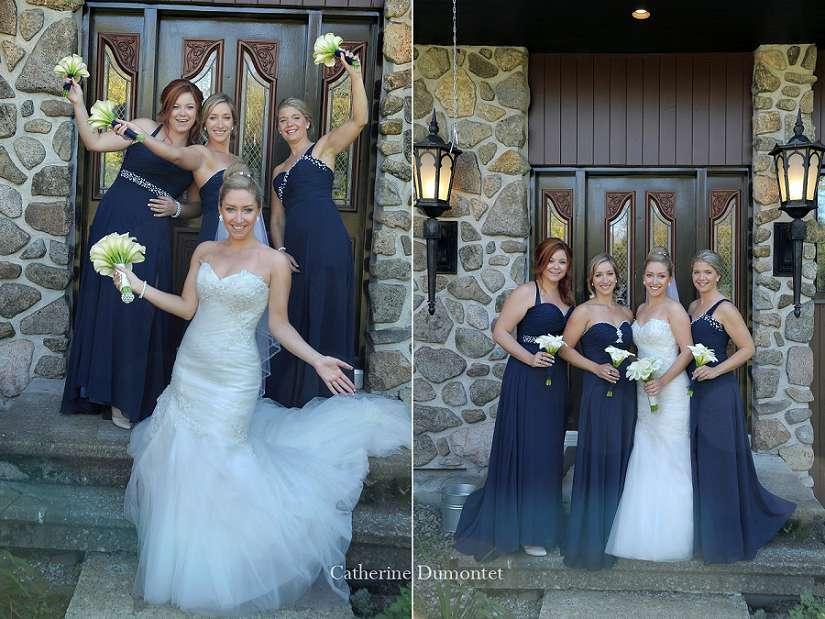 la mariée avec demoiselles d'honneur
