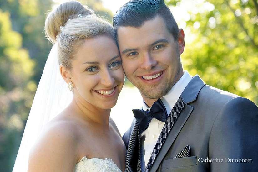 close-up sur les nouveaux-mariés