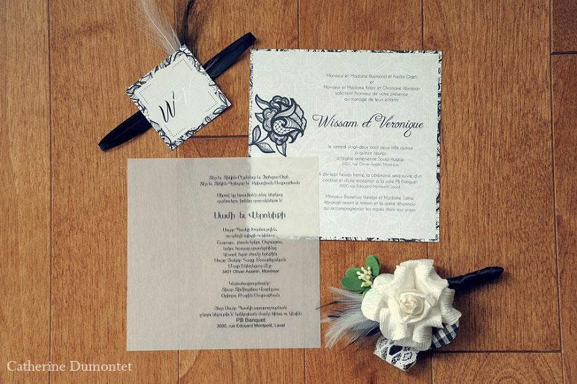 carton d'invitations de mariage