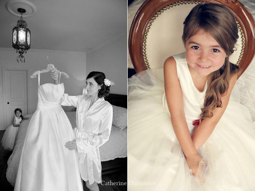 la mariée et sa bouquetière