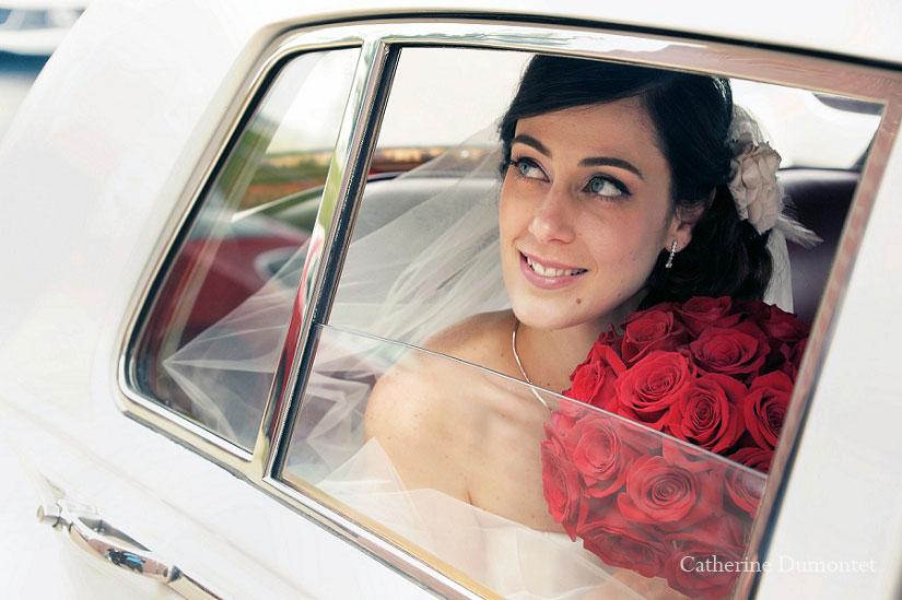 la mariée dans la limousine