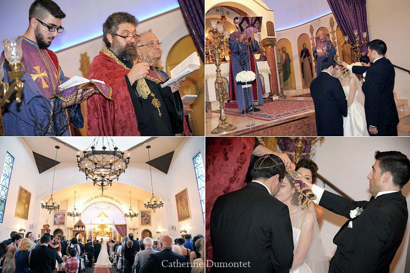 cérémonie à l'église arménienne
