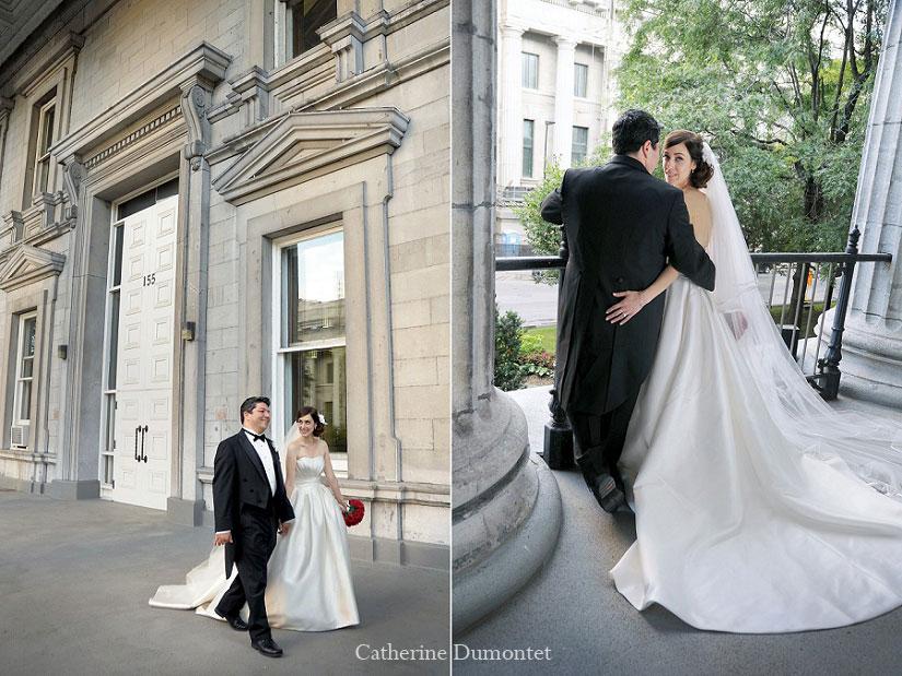 photos de mariage dans le Vieux-Montréal