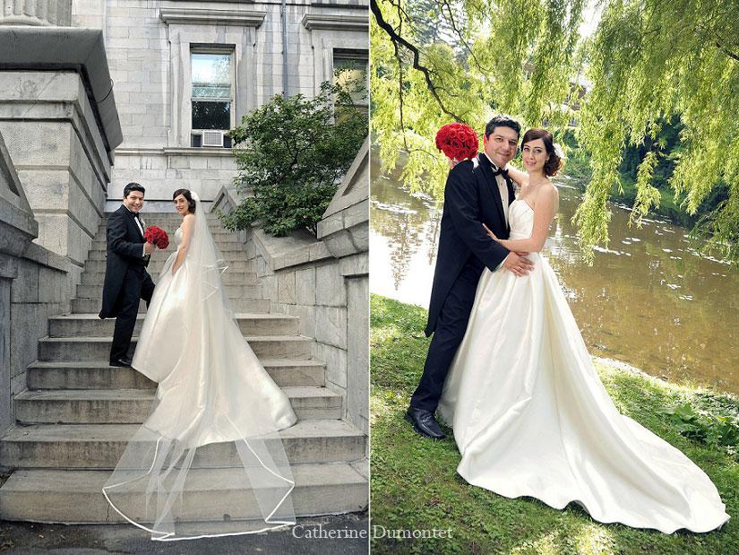 les nouveaux-mariés au parc et dans le Vieux-Montréal