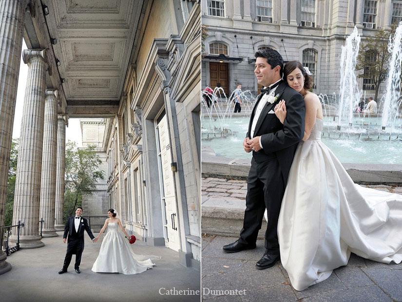 les nouveaux-mariés dans le Vieux-Montréal