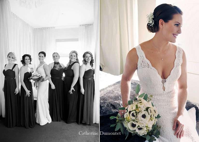 Portrait de la mariée et de ses demoiselles d'honneur