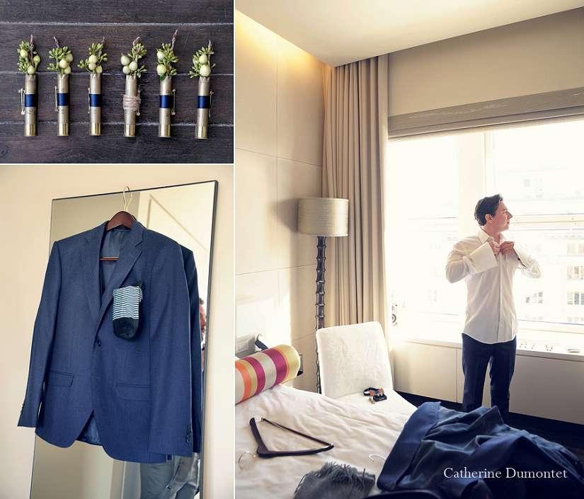 Préparation du marié à l'hôtel St-Paul