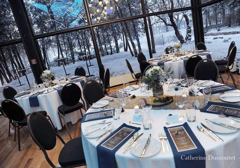 la salle de réception la Toundra en hiver