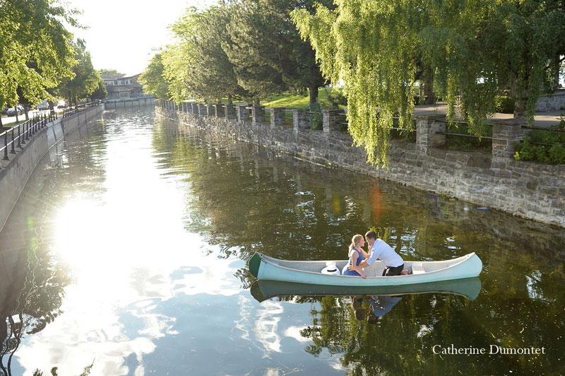 Fiançailles en bateau sur le Canal Lachine