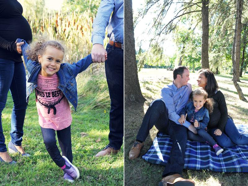 photographie de famille au Parc Maisonneuve