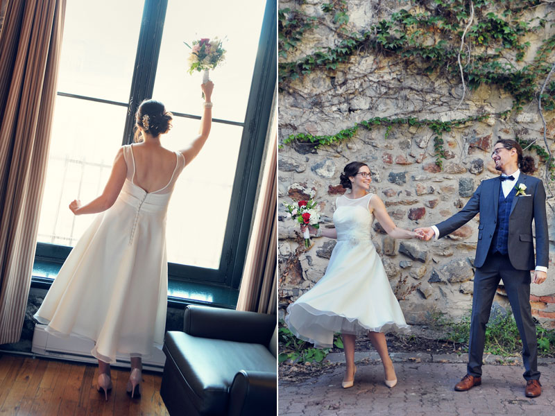 mariés à l'Auberge du Vieux-Port de Montreal