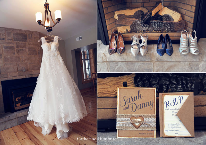 accessories of the bride and bridesmaids