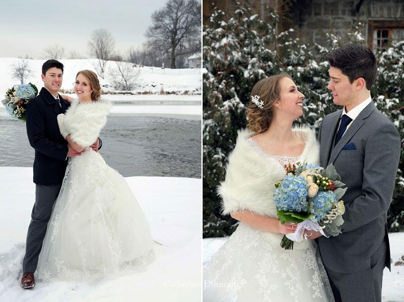 winter wedding in Coteau-du-Lac