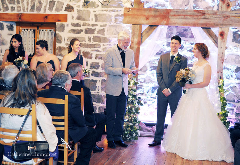 Wedding ceremony at Moulin Callieres