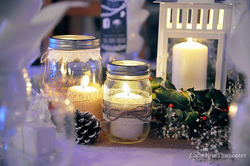 centerpiece winter wedding decoration