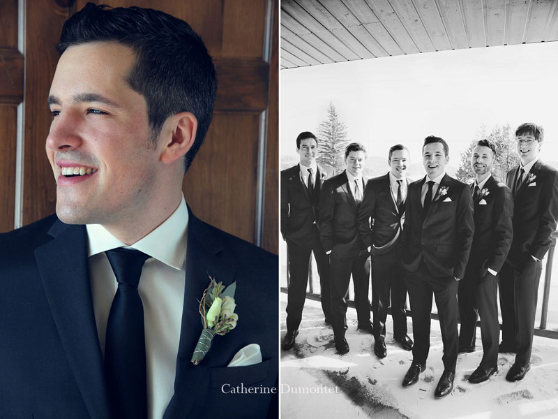 portraits of the groom and with the groomsmen