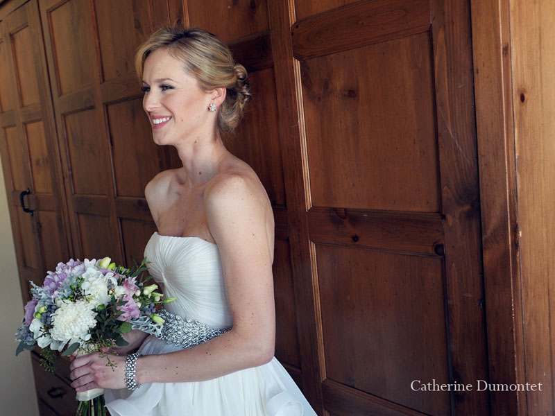 portrait of the bride at the Grand Lodge suite