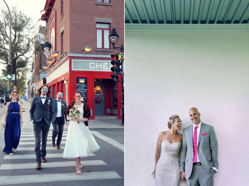 photos de mariés qui sont heureux