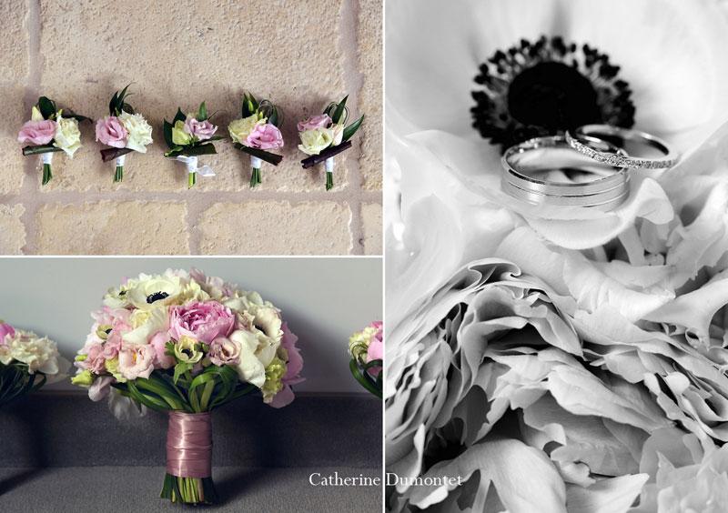 Bouquet et boutonnières du Domaine de Vénusia