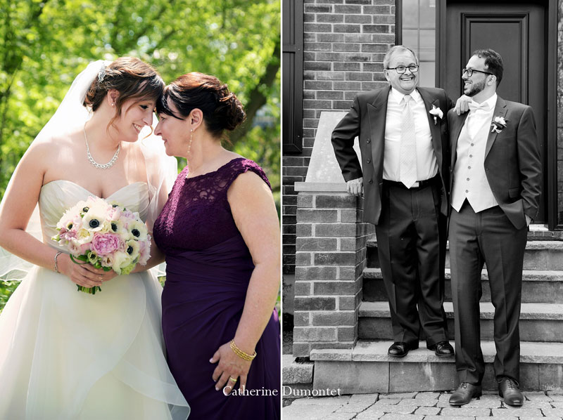 les mariés avec leur père et mère