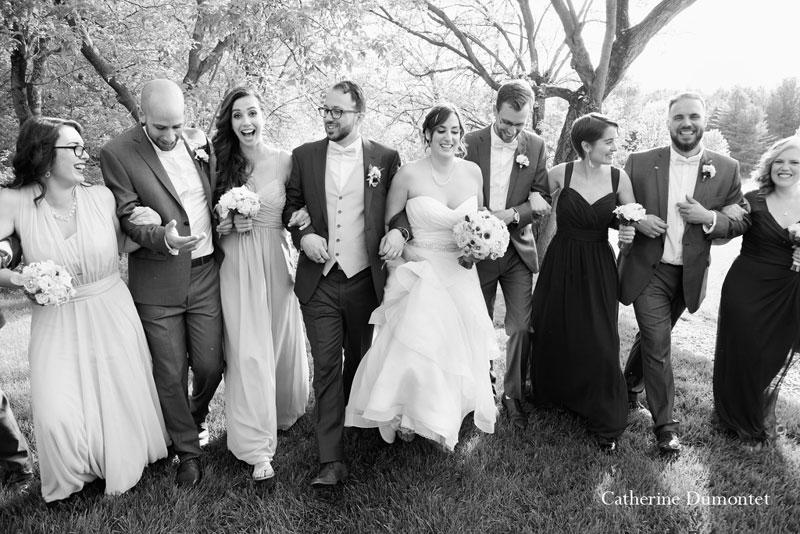 cortège avec les mariés à la Distinction dans Lanaudière