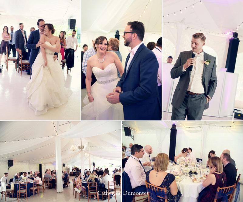 réception de mariage sous un chapiteau