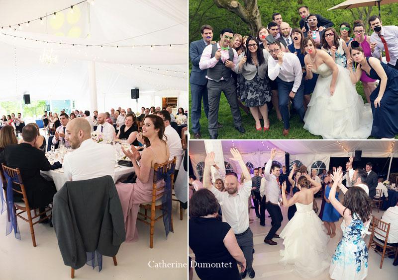 réception de mariage sous chapiteau à La Distinction
