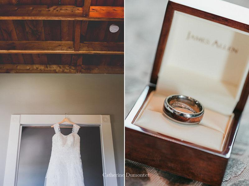 robe et bagues de mariage