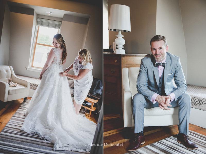 préparation mariage au Pleasant Hotel à Sutton