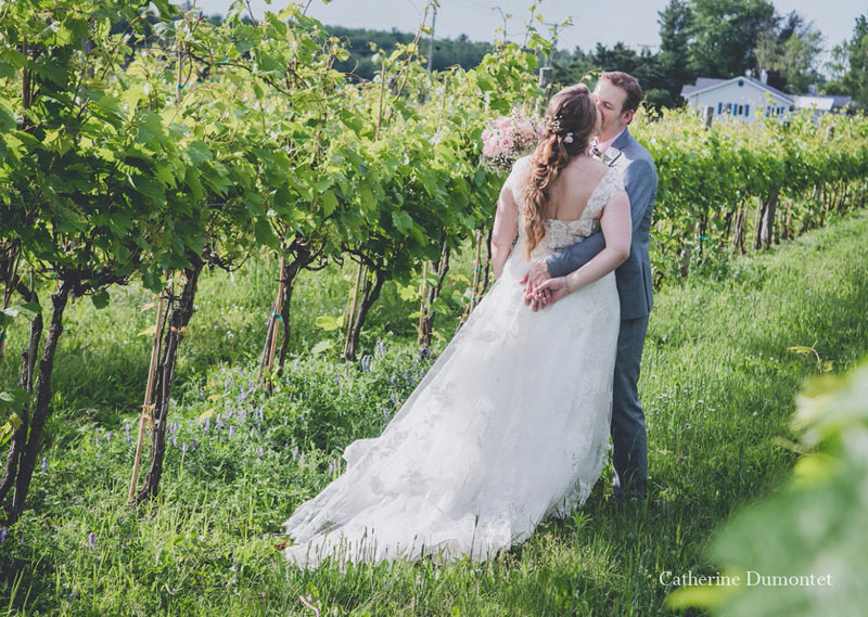 mariage au Vignoble de la Bauge en Estrie