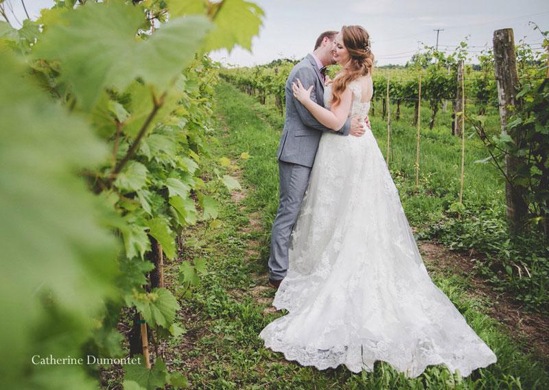 mariage au Vignoble de la Bauge à Brigham
