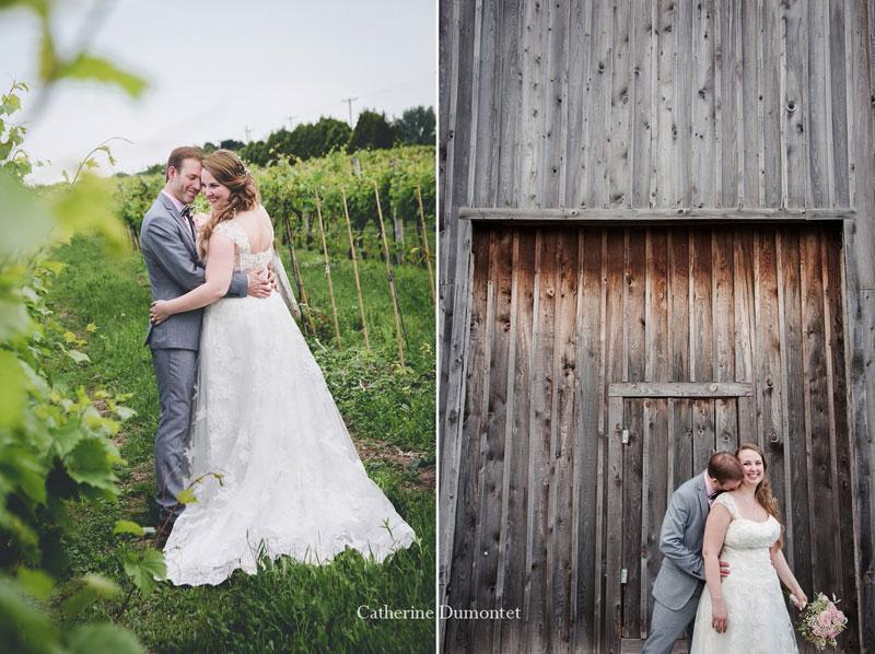 Les mariés au Vignoble de la Bauge