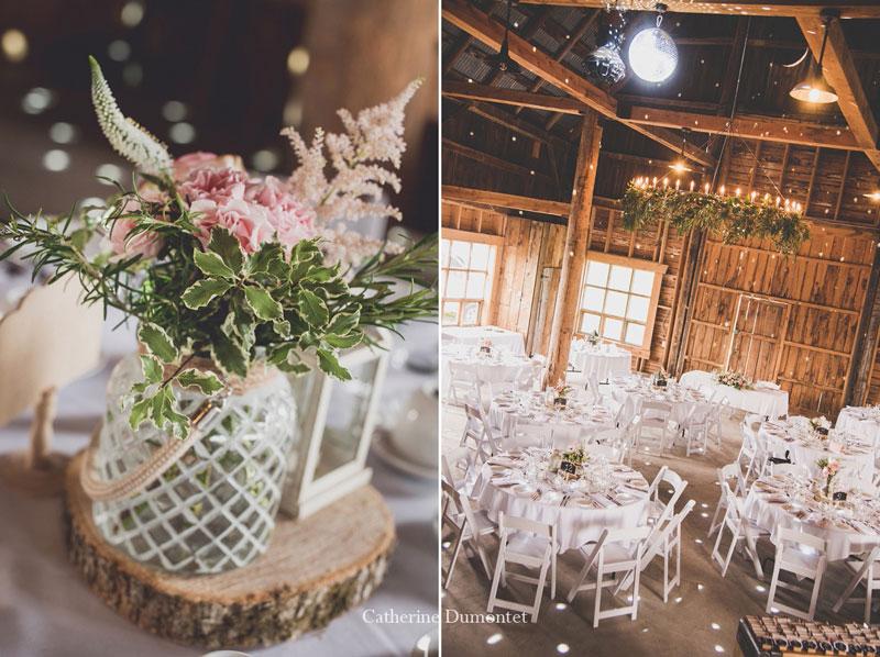 décorations de mariage au Vignoble de la Bauge