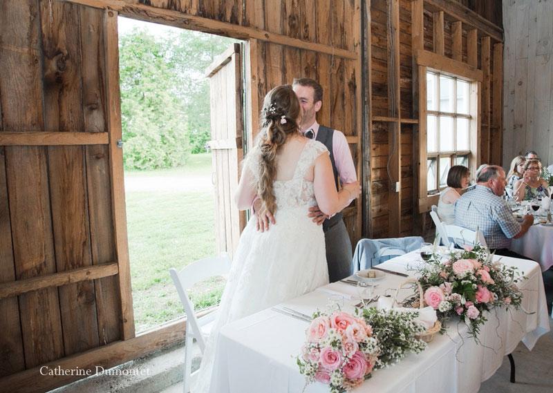 réception de mariage au Vignoble de la Bauge