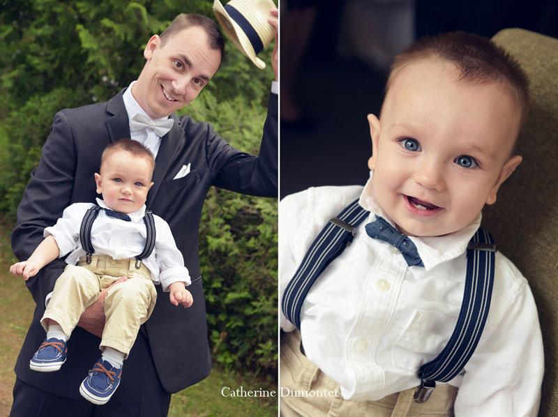 Portraits du marié et de son garçon