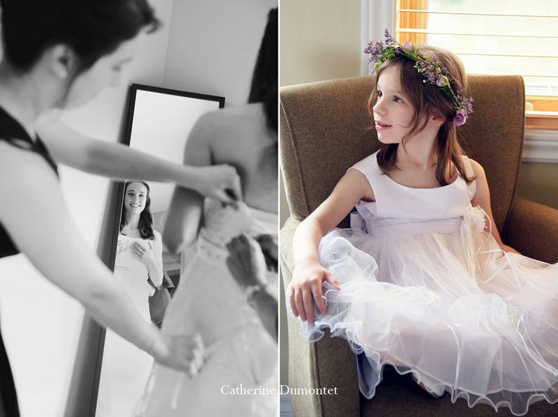 la mariée se prépare pour le grand jour