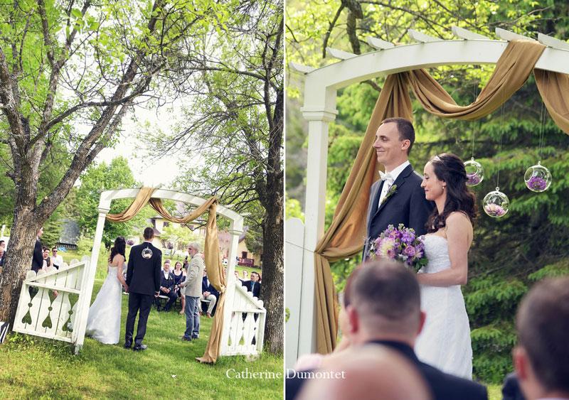 cérémonie mariage extérieure à l'Auberge du Vieux Foyer