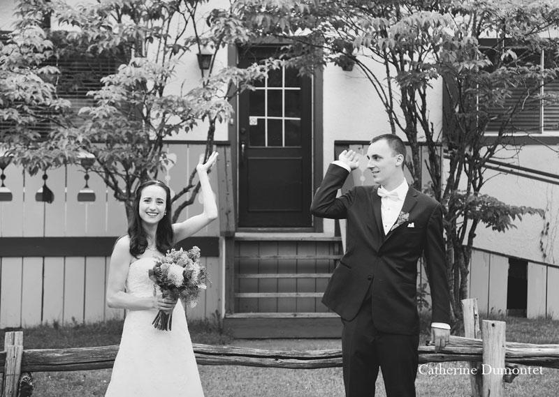 Les mariés combattent les mouches noires