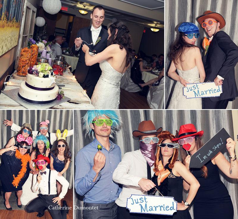 photobooth de mariage et coupe du gâteau