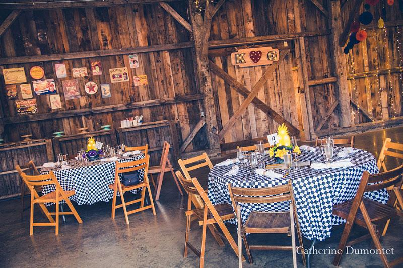 tables décorées au Jude-Pomme