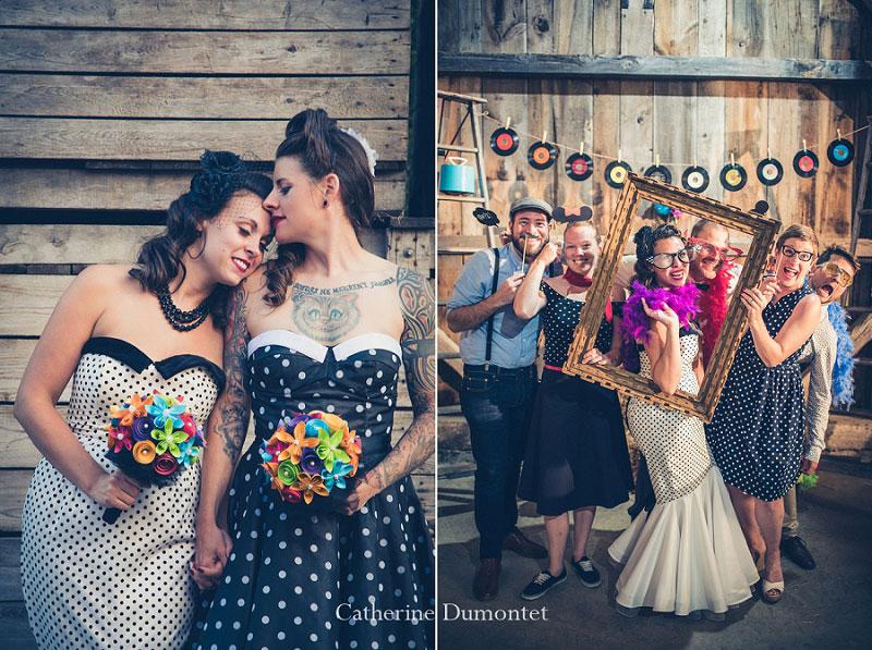 mariage rétro au Jude-Pomme d'Oka