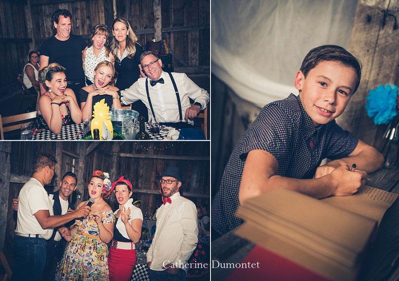 invités lors de la réception mariage